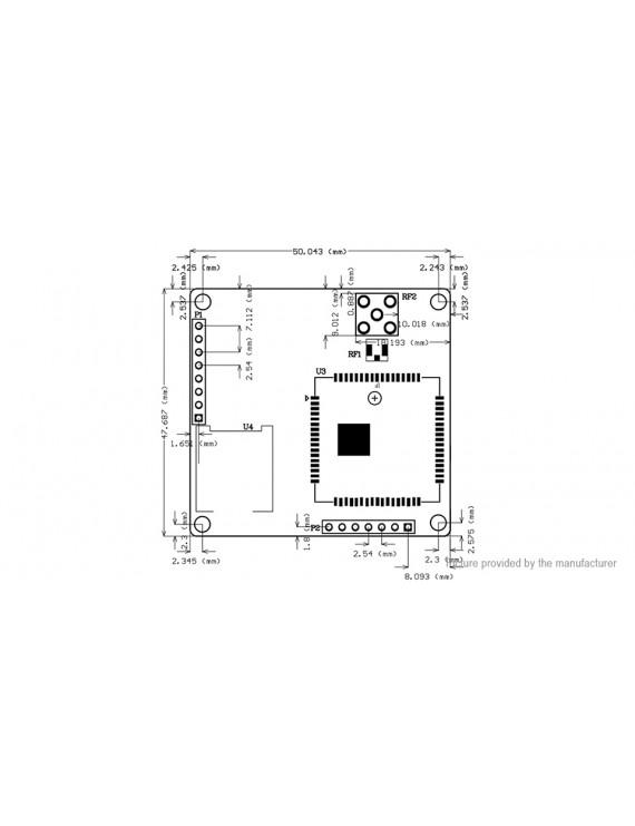 SIM800A Mini GSM/GPRS Module Development Board