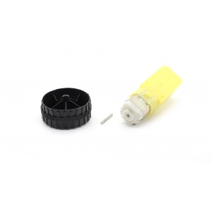 #41 Replacement Tyre + Axle + Gear Motor for Toy Vehicle DIY