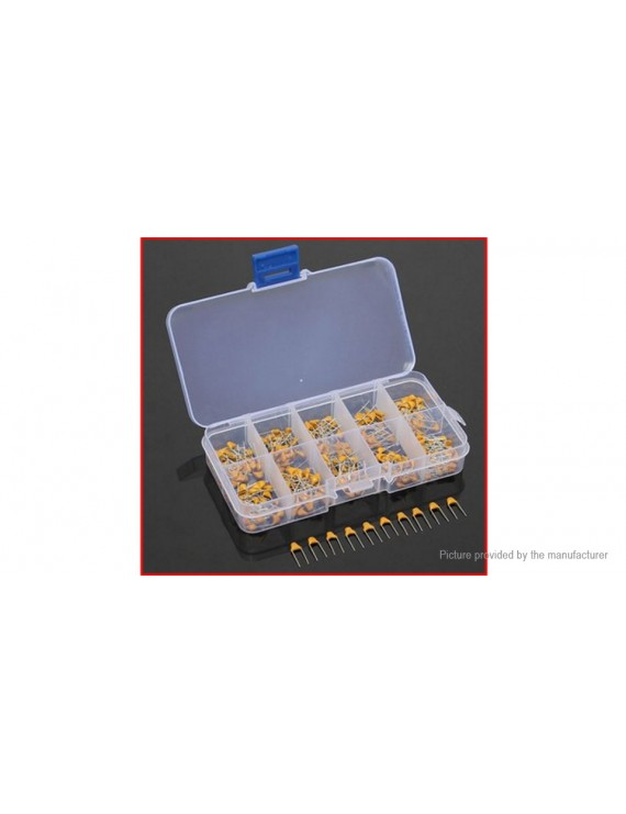 10PF-100NF Ceramic Electrolytic Capacitors Value-Pack (300-piece)