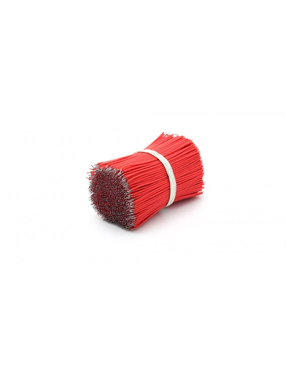 100mm 30 AWG Lead Wires (1000-Pack) - 100mm, Red: 1000-Pack