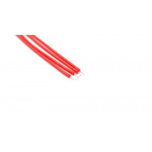150mm 30 AWG Lead Wires (1000-Pack) - 150mm, Red: 1000-Pack